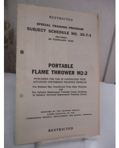 Portable Flame Thrower M2-2.