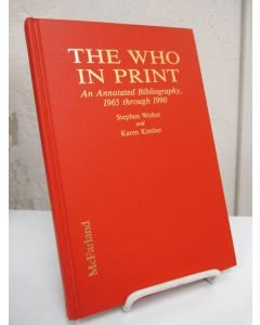 The Who in Print: An Annotated Bibliography, 1965-1990.