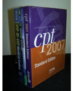 Step-by-Step Medical Coding, Step-by-Step Medical Coding Workbook, HCPCS Level II, AMA CPT Standard Edition, 4 volumes, all 2007.