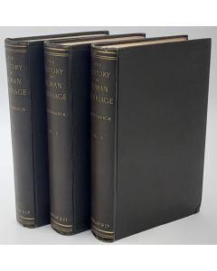 The History of Human Marriage. 3 volumes.