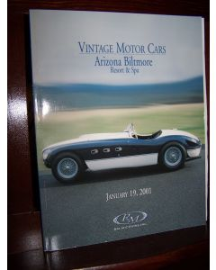 Vintage Motor Cars, Arizona Biltmore Resort and Spa, January 19, 2001. (Auction Catalog).