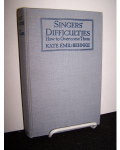 Singer's Difficulties: How to Overcome Them.