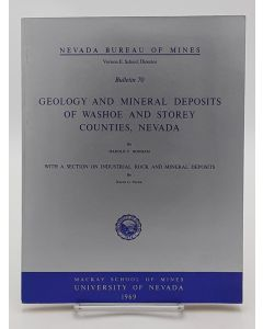 Geology and Mineral Deposits of Washoe and Storey Counties, Nevada.