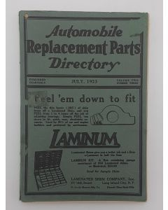 Automobile Replacement Parts Directory.