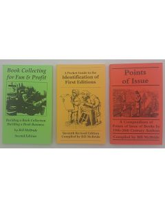 A Pocket Guide to Identification of First Editions: Book Collecting for Fun and Profit: Points of Issue. Book Collectors' pocket reference package. 3 volumes.